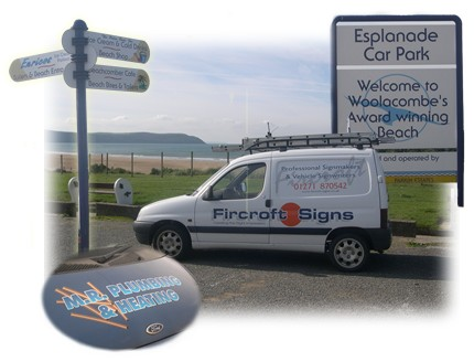 Welcome to the Fircroft Signs Website. We are professional Signmakers & vehicle Signwriters based in Woolacombe, North Devon This web site gives you some idea of the type of signage we produce but please feel free to contact us for free advice and quotations on any sign project.